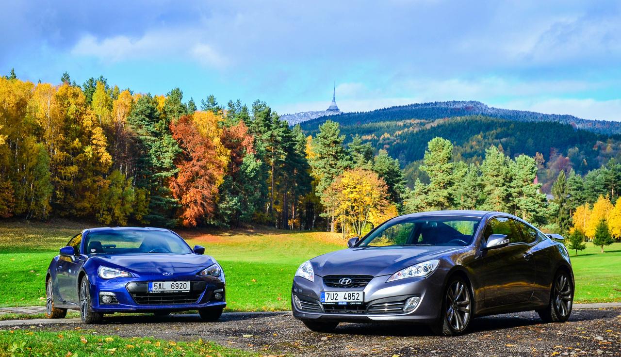 Srovnvac TEST Subaru BRZ vs Hyundai Genesis  Nejzbavnj