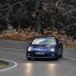 subaru brz vs hyundai genesis coupe in motion (12)