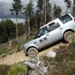 Action shot from the Land Rover Experience Centre in Bala