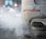 Car exhaust pipe, which comes out strongly exhaust gases in Finl